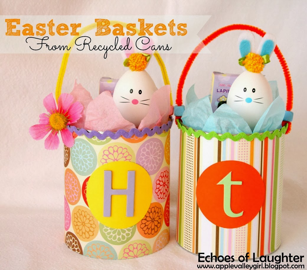 Easter Baskets From Recycled Cans