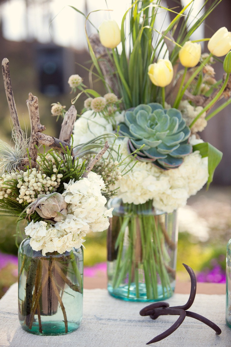 Beautiful bridal stunning succulent wedding centerpieces