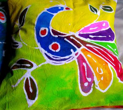 paste batik cushion cover