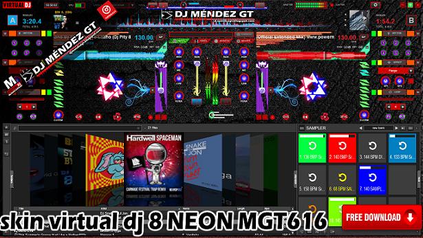 SKIN VIRTUAL DJ 8 NEON MGT616 2016