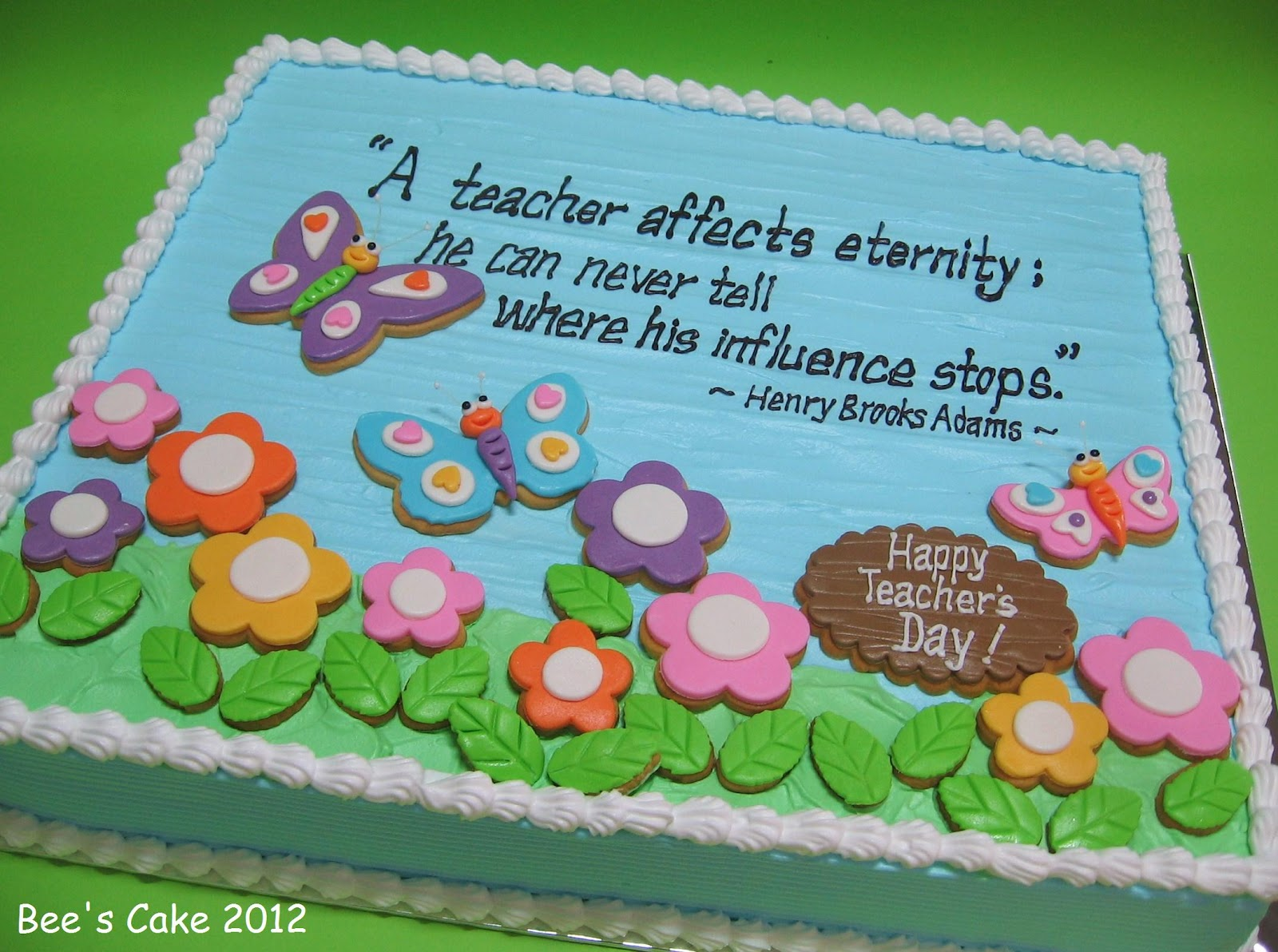 Cake Designs For Teachers Day : Bee s Cake: Happy Teacher s Day
