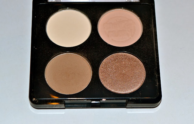 A picture of Soap & Glory Eyeshadow Palate - What's Nude? The four shades
