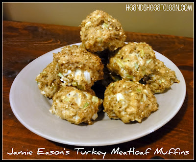 Clean Eat Recipe :: Jamie Eason's Turkey Meatloaf Muffins ~ He and She Eat Clean