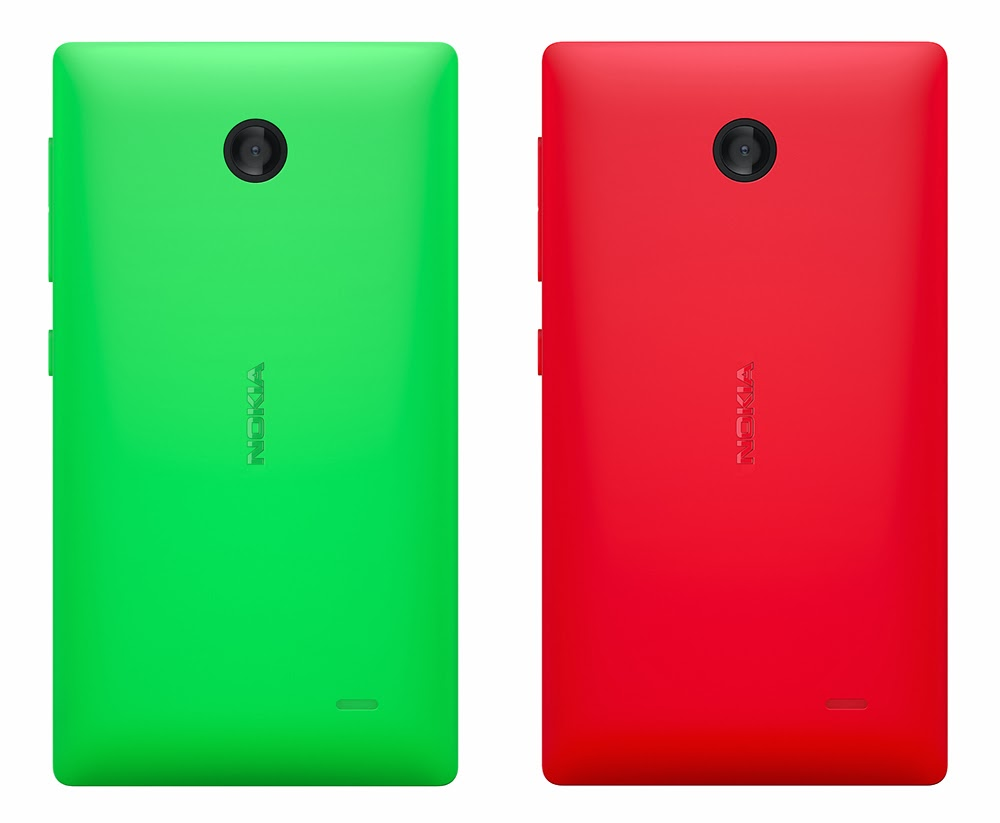 nokia x back green red
