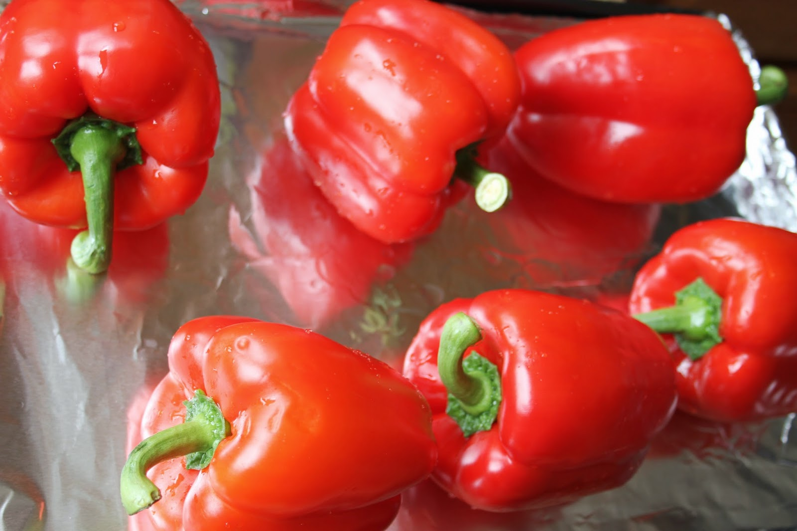 how to cook red peppers in oven