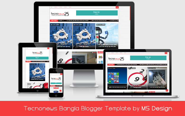 TecnoNews Responsive Bangla Blogger Template Download