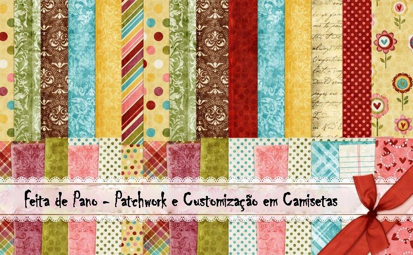 Camisetas Feita de Pano - Patchwork e Customização em Camisetas