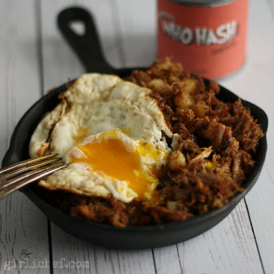 Who Hash (aka Roast Beast Hash) inspired by How the Grinch Stole Christmas for a Holiday Movie and Music inspired #SundaySupper via www.girlichef.com