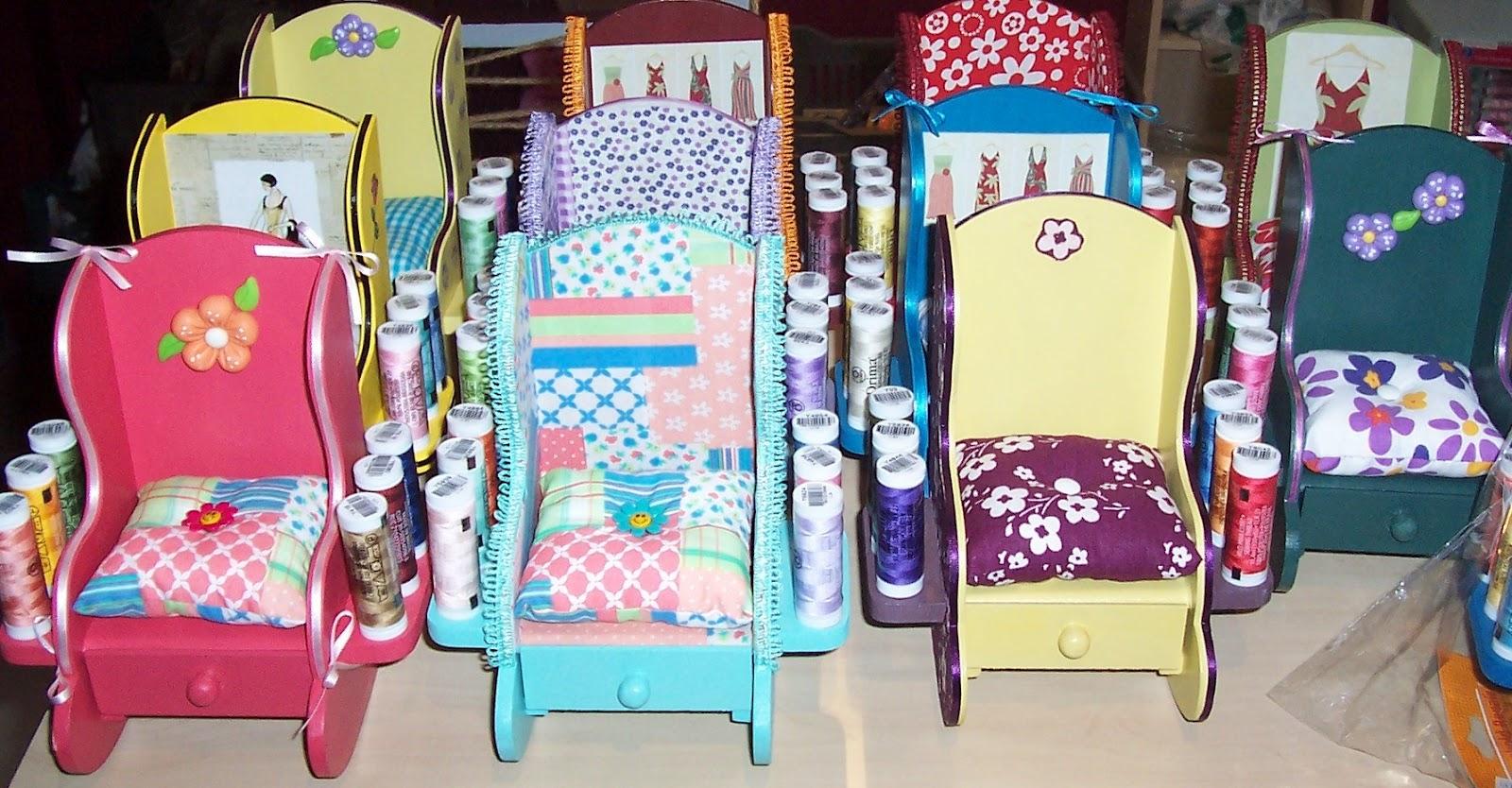 Oficina da Casa: Kit de Costura Cadeiras de Balanço em MDF #A72447 1600x834