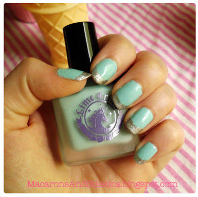 Lime Crime Nail Polish Once in a Blue Mousse Swatch