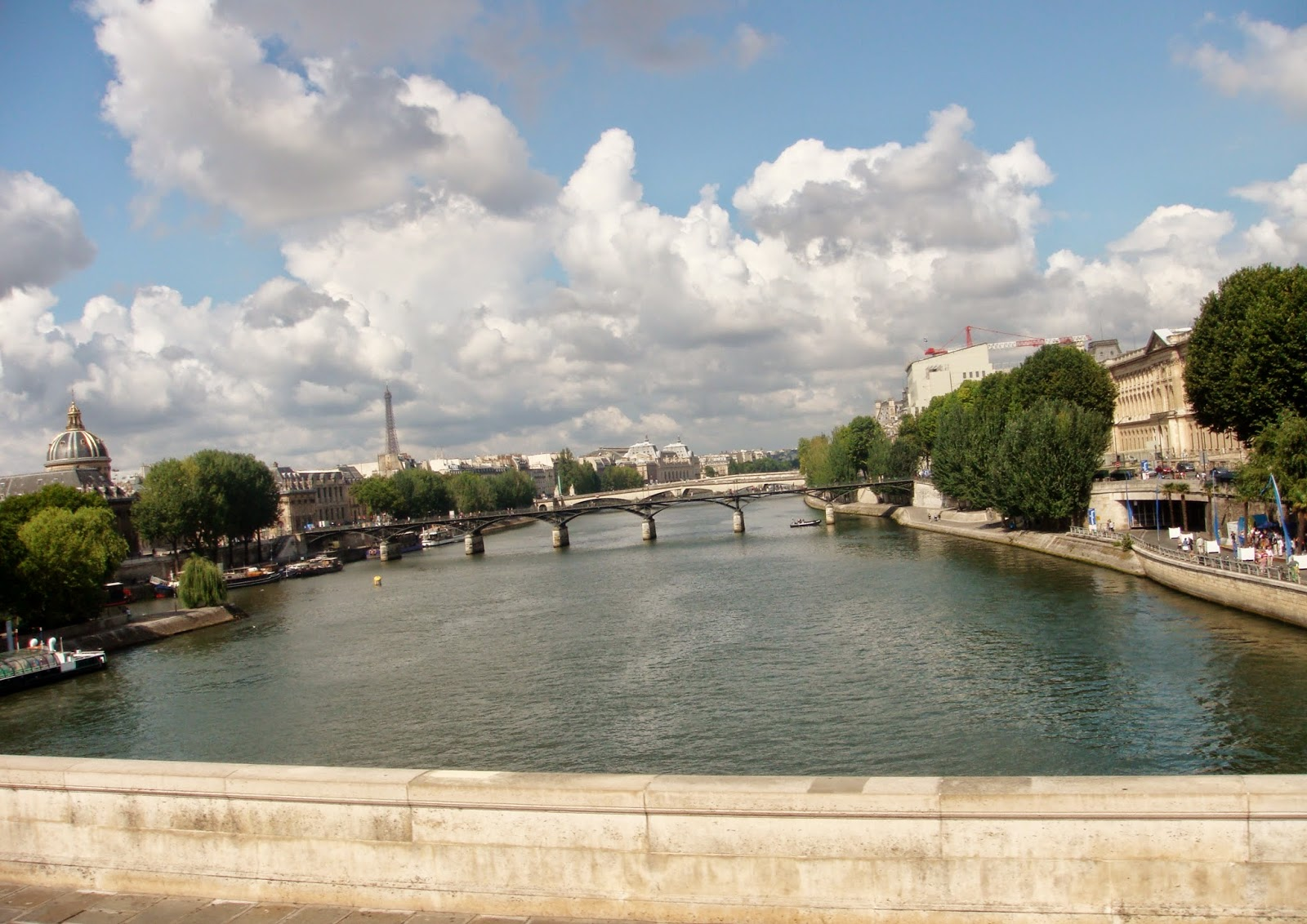 View down the Seine Paris