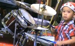 3 Year Old Drummer ~ Howard Wong
