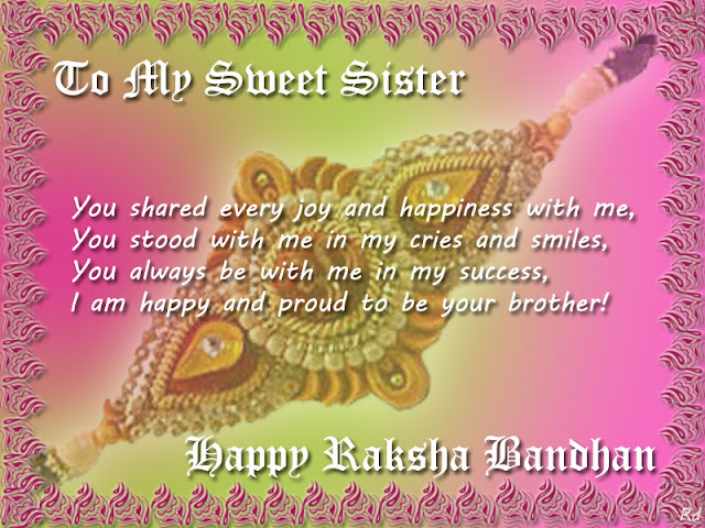 Raksha bandhan SMS Message Wishes Happy Rakhi Message for Facebook