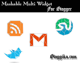 5 in 1 Mashable Multi Search, Facebook,Twitter, Googleplus, Subscribe widget For blogger