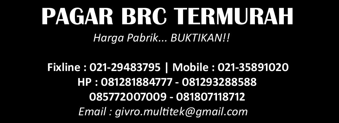 PABRIK PAGAR BRC HARGA MURAH | JUAL PAGAR BRC