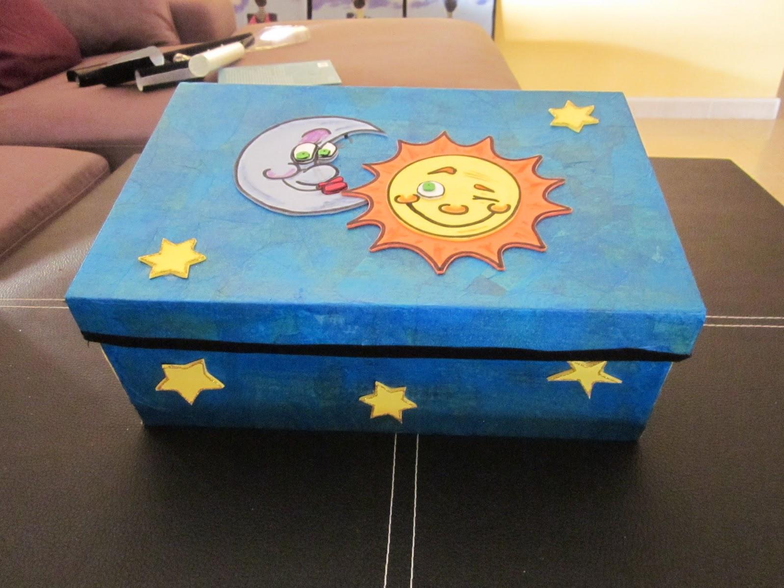 Cajas de carton decoradas con foami imagui - Cajas grandes de carton decoradas ...