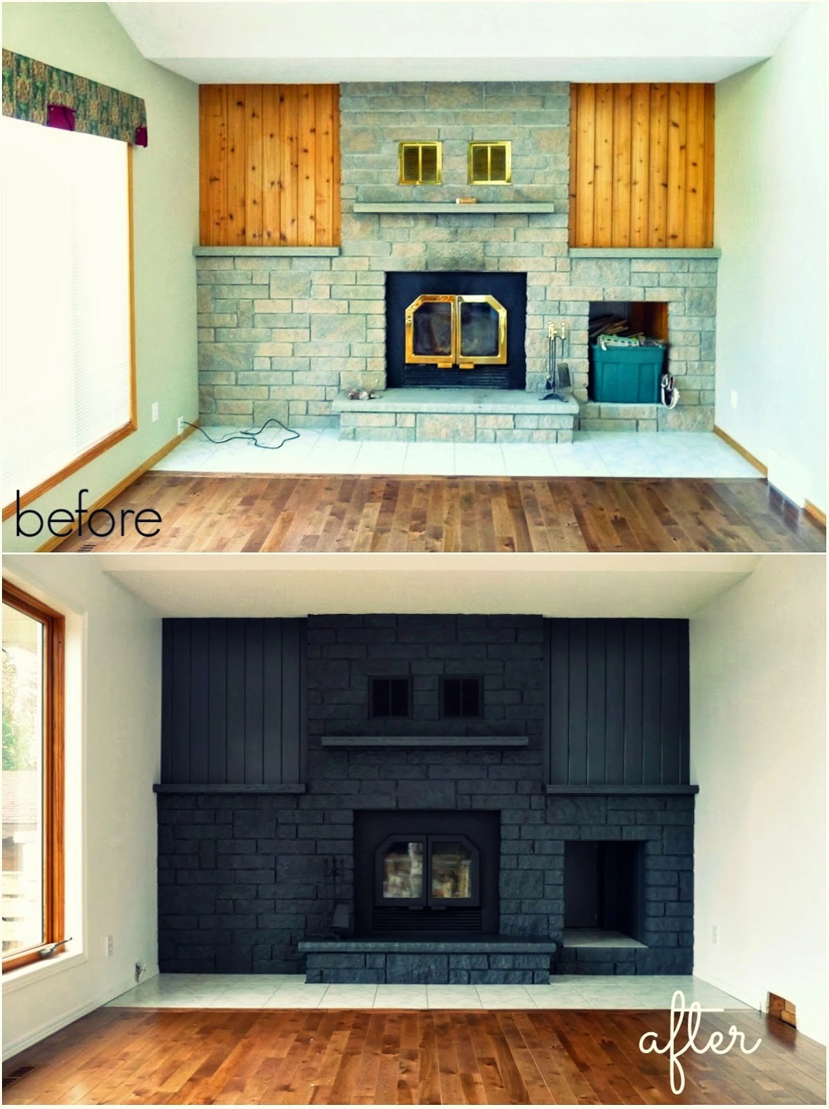 A Faux Fireplace Gets One Inexpensive and Easy Update