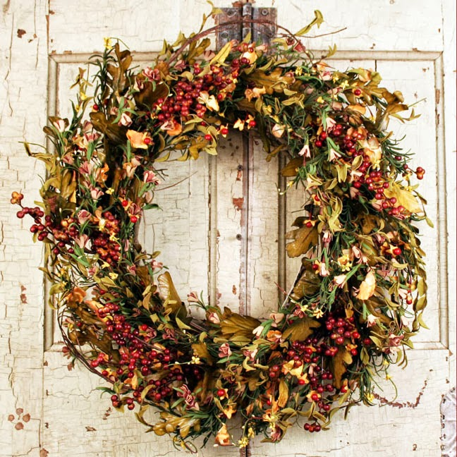 The shabby nest an autumn wreath Fall autumn door wreaths