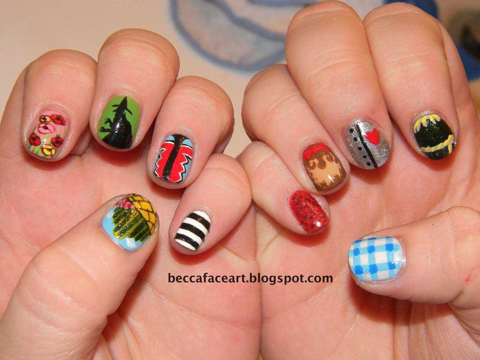 Becca Face Nail Art: Wizard of Oz Nails