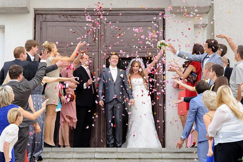 žiedlapiai vestuvėse