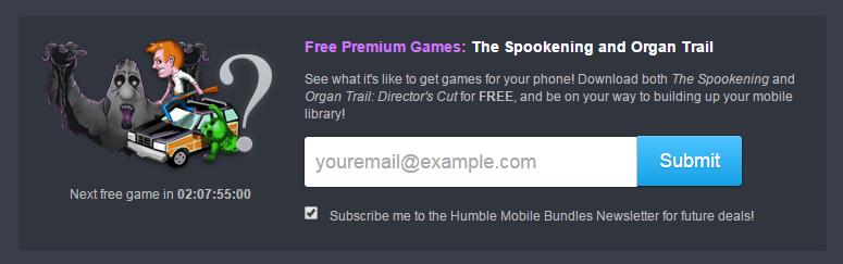 Ya son dos los juegos gratis que recibiremos solo por poner nuestro correo electronico.