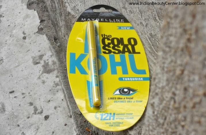 Maybelline Colossal Kajal Turquoise Review