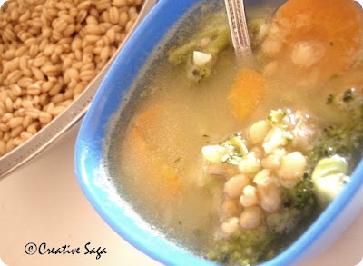 wheat berry lentil soup