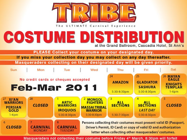 TRIBE 2011 Carnival Costume Distribution