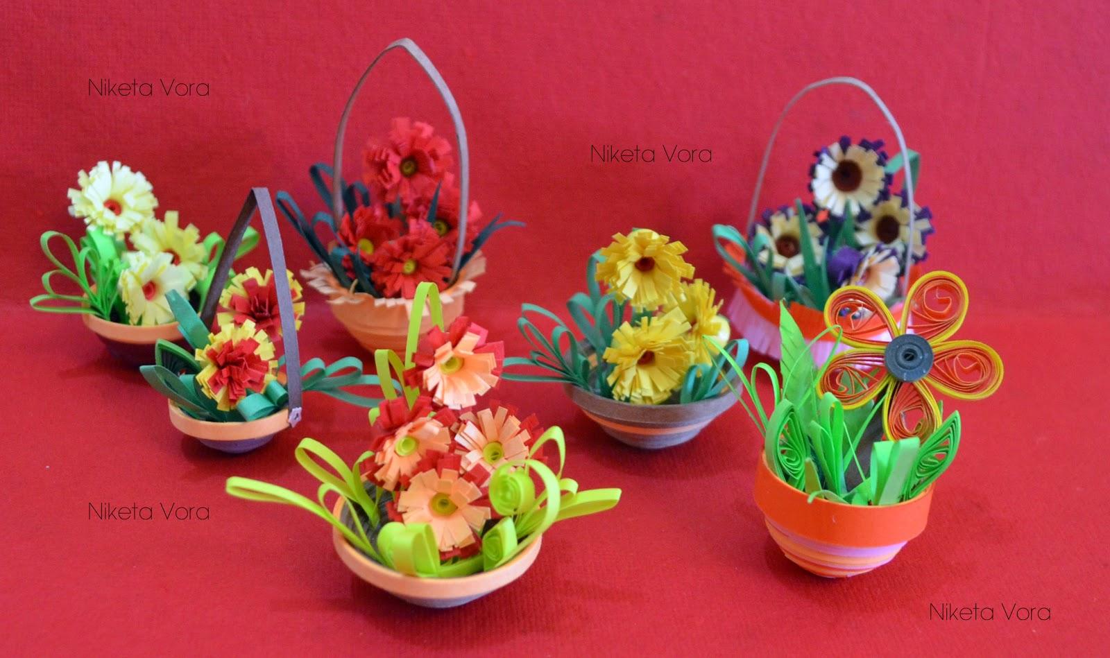 Miniature Flower Pots  3D Paper Quilling