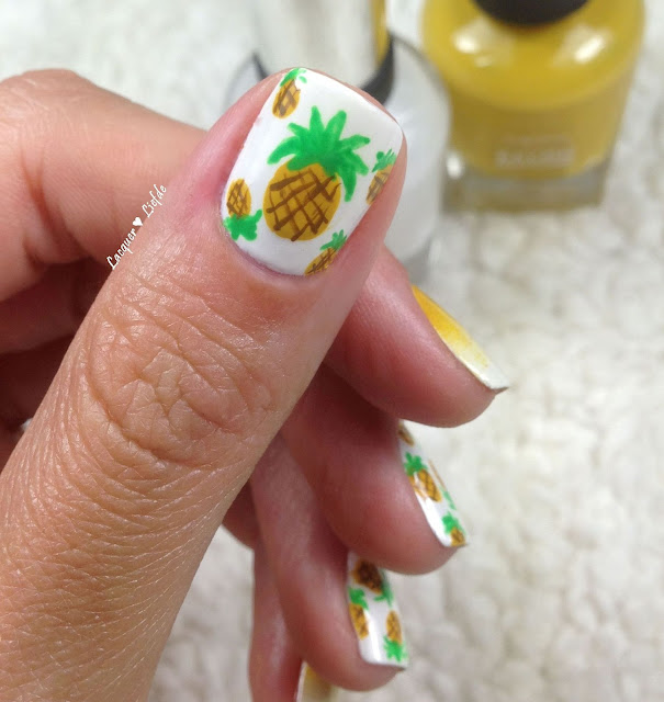 Sally Hansen Ananas Nagel Design Pineapple Nail Art