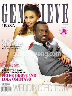 Peter Okoye & Lola Omotayo-Okoye cover december issue of Genevieve Magazine