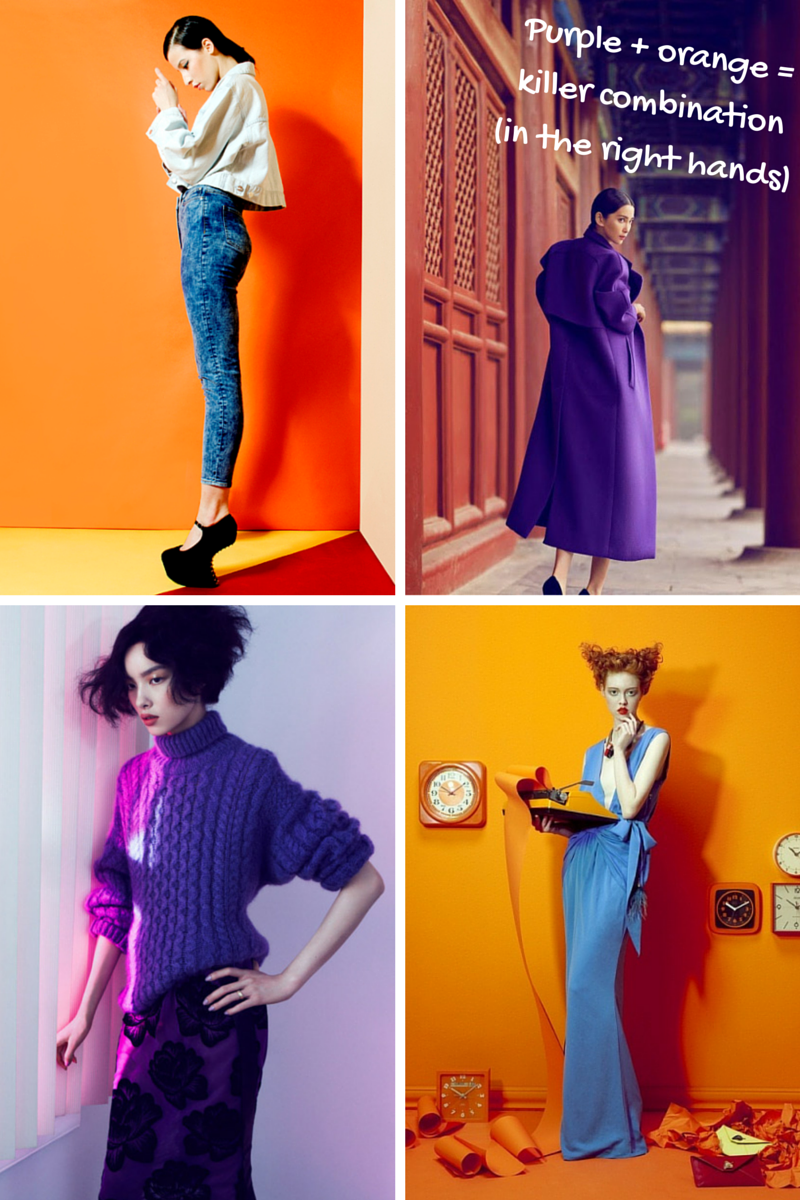 Purple & Orange in Vogue China, Vogue Italia & WOW Berlin | Ses Rêveries