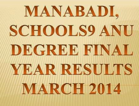 Manabadi, Schools9 ANU Degree Final (3rd) Year Results 2014 @ www.manabadi.com