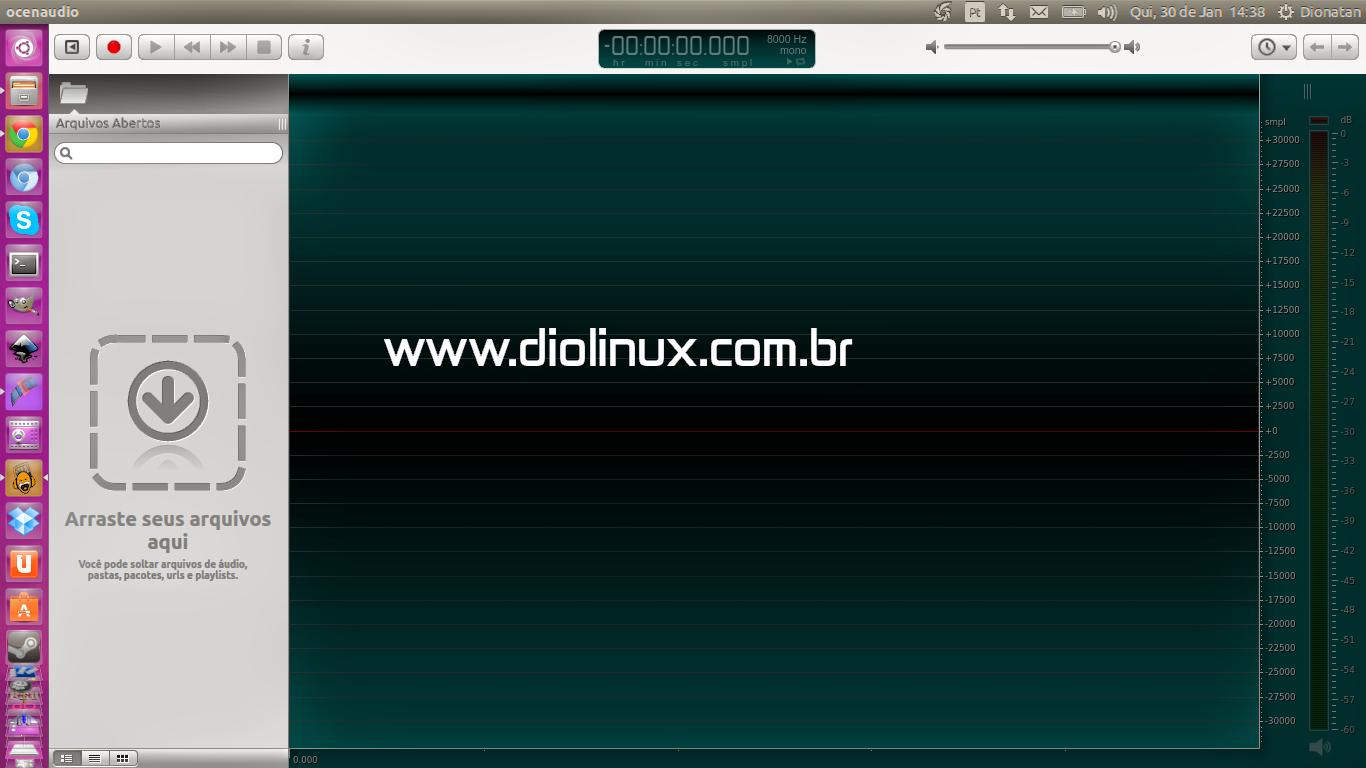 Oceanaudio no Ubuntu