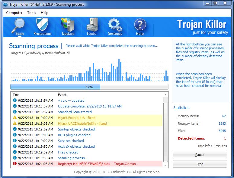 Gridinsoft trojan killer 2 1 6 1