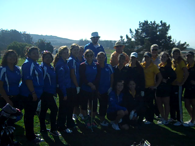 Members of the Lompoc & Cabrillo Girls Golf teams gathered to batlle ...