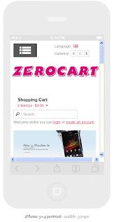 responsive view zerocart, free opencart responsive theme