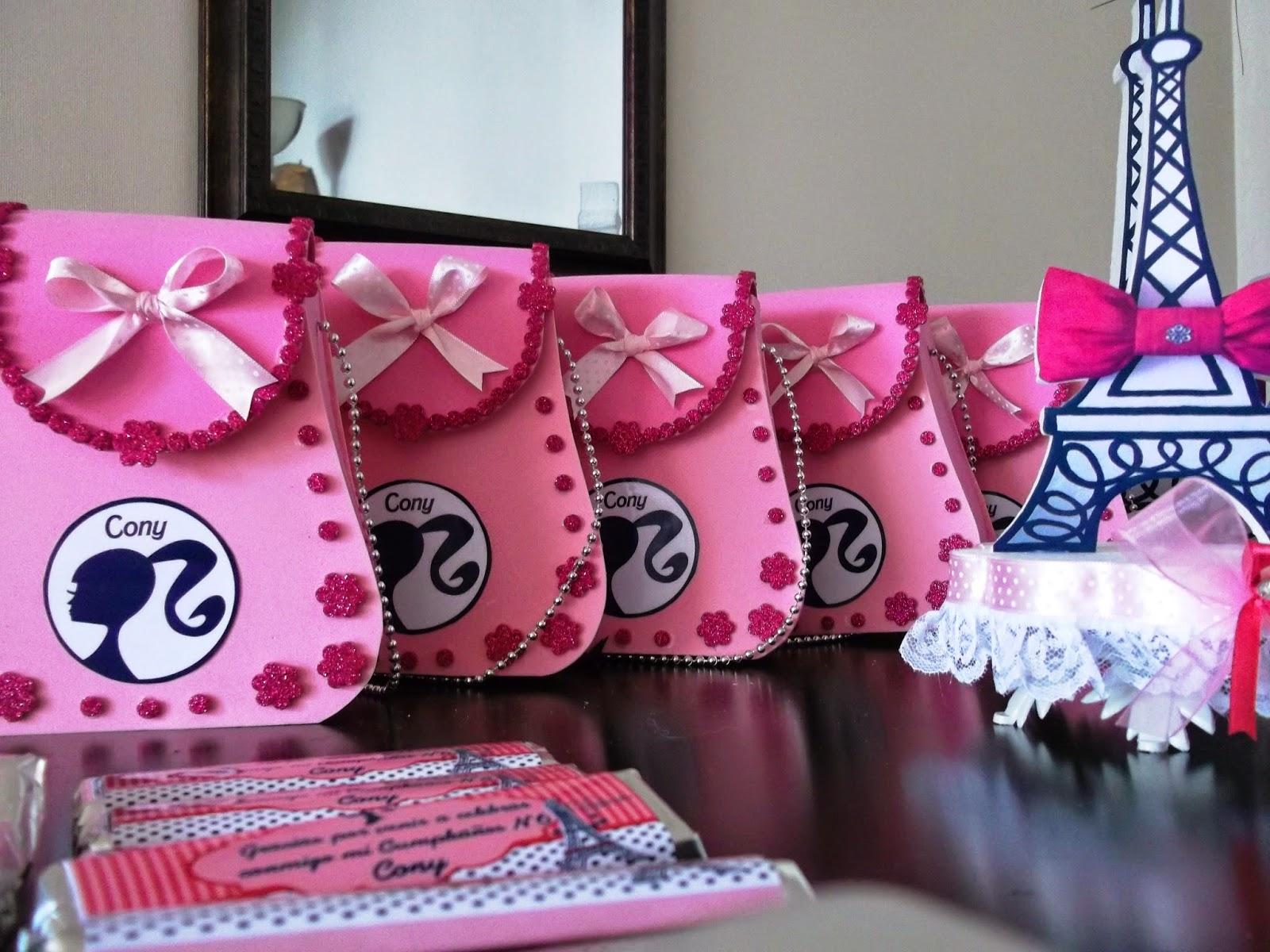 Eventos para tu Bebé: carteritas barbie paris