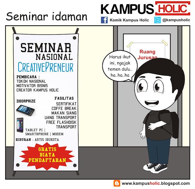 #146 komik Seminar idaman para mahasiswa