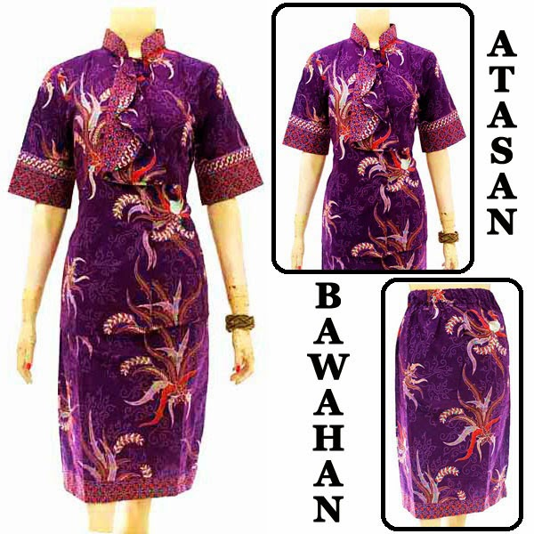 DB3785 Model Baju Dress Batik Modern Terbaru 2014