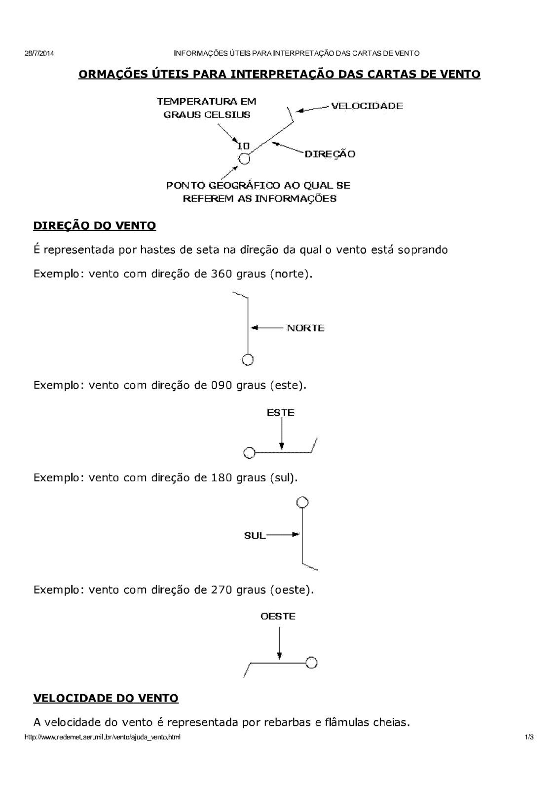 GRÁFICO DE DIREÇÃO DO VENTO