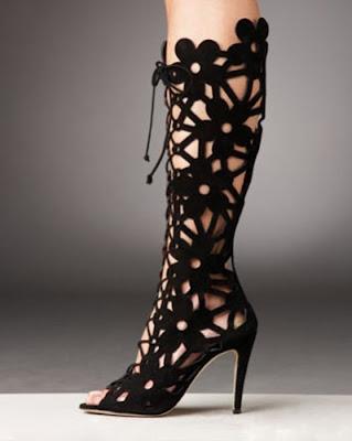 İnce Topuklu Süet Çizme Modelleri