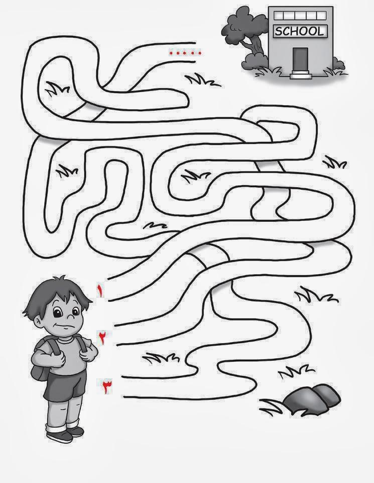 سؤال ذكاء صور اسئلة اذكياء لغز ما هو الطريق الذي سيوصل الطالب للمدرسة