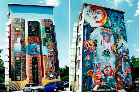 foto foto lukisan dinding 3d mural dari berbagai belahan