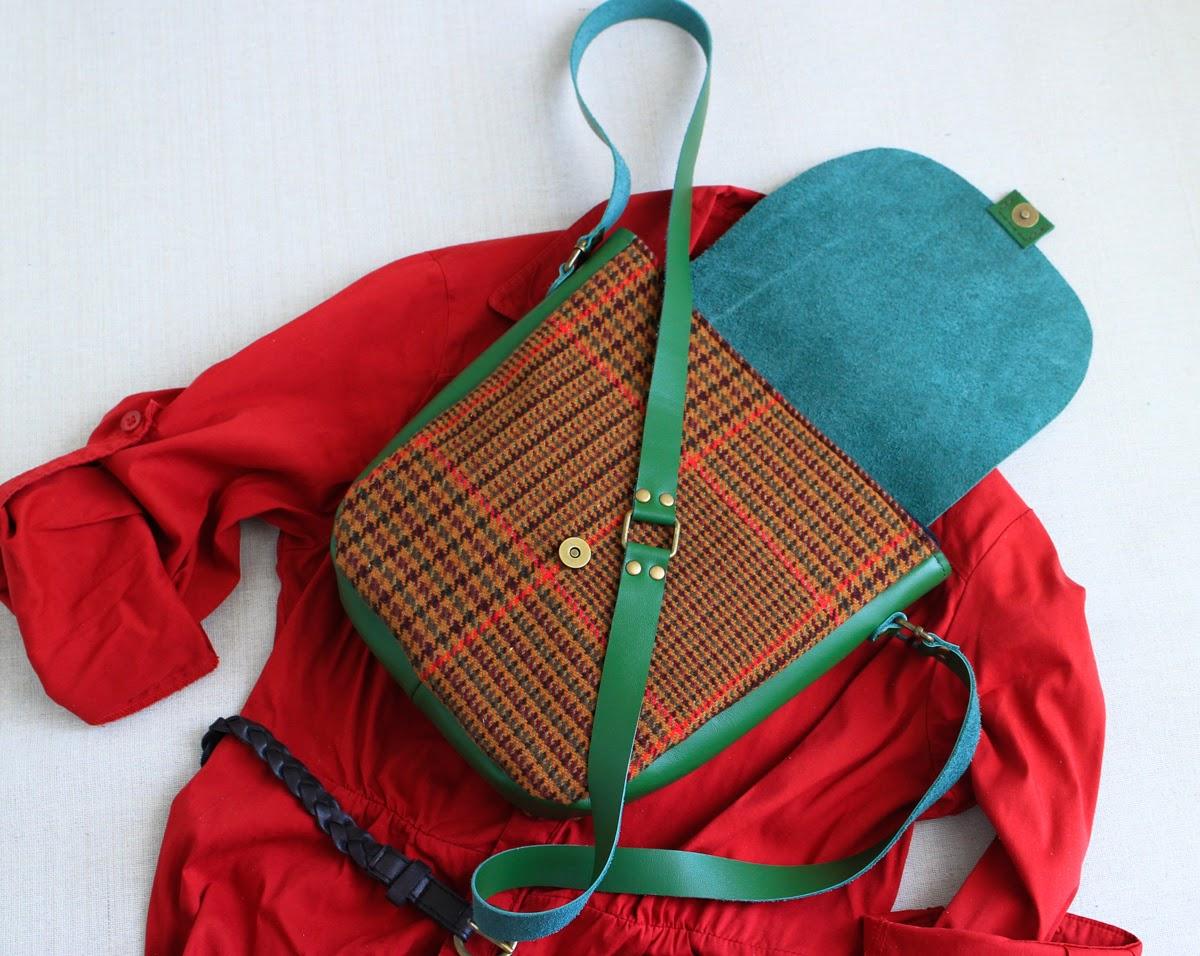 Комбинированная кожаная сумка