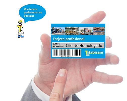 Solicita tu tarjeta profesional Tabisam son solo ventajas