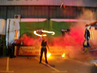 Malabares. espectáculos de fuego