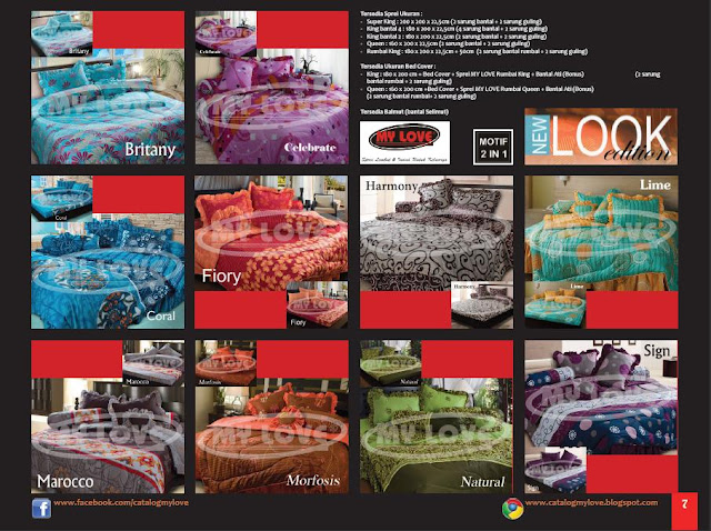 Katalog Buku LOVIE edisi 4 Tahun 2012 Page 7 : Sprei dan Bedcover My Love New Look Edition