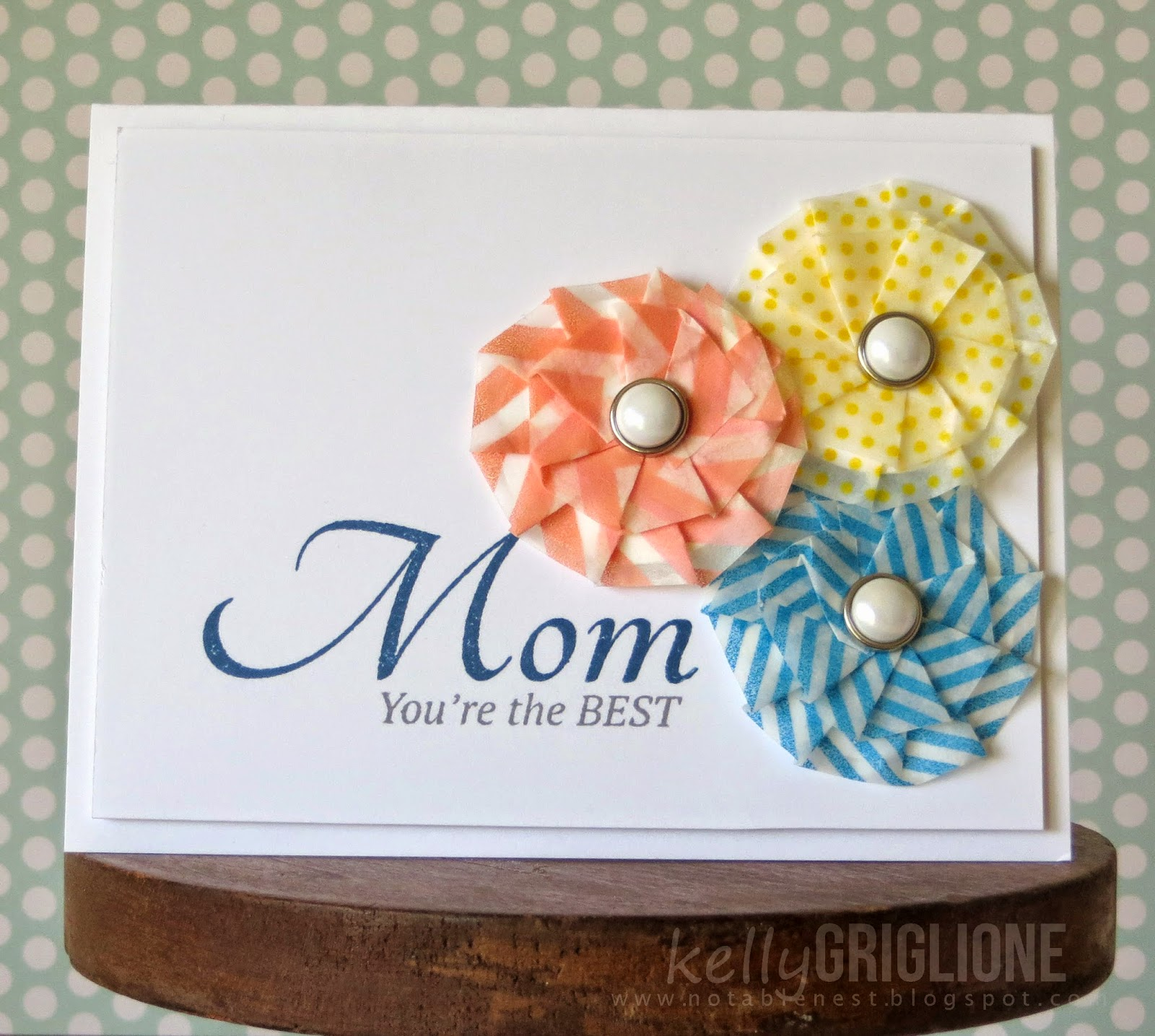 Washi Tape Flowers Card For