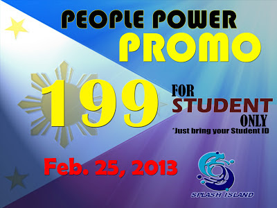 Splash Island People Power Promo 2013